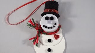 Tealight Snowman Ornament - With Yoyomax12