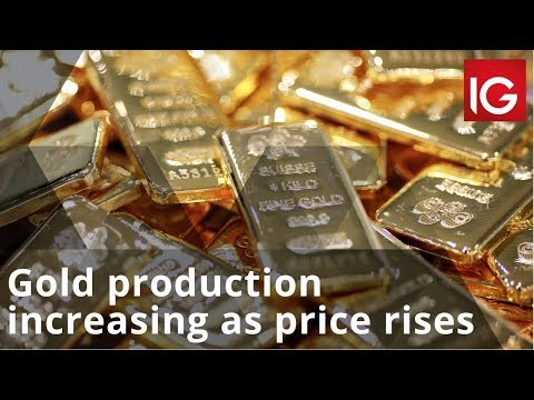 Gold production increasing as price rises
