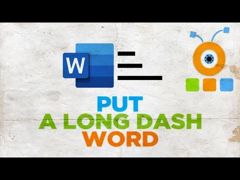 How To Put A Long Dash In Word For Mac | How To Insert A Long Dash In Word For MacOS