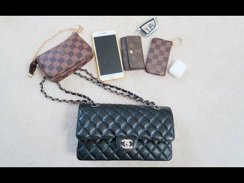 【Serena】What's in my bag? 我的包包里有什么?| Chanel Classic Flap 小香經典翻蓋包 - Chinese中文 - YouTube