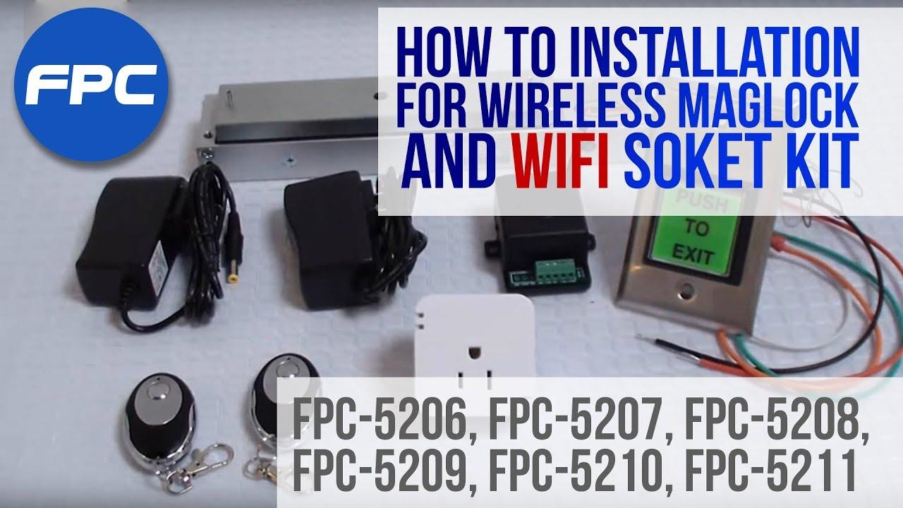 fpc 5208 vs one door access control out swinging door 1200lbs fpc security maglocks kit visionis [ 1280 x 720 Pixel ]