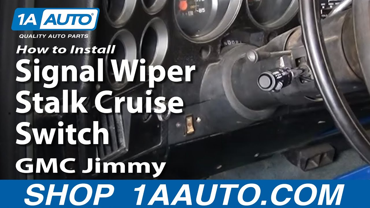 how to install replace turn signal wiper stalk cruise switch gm car rh youtube com