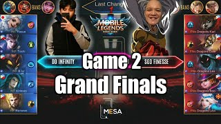 Game2 DD Infinity VS SGD Finesse | MESA Tournament S3