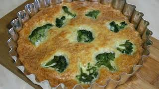 Сырное суфле с брокколи
