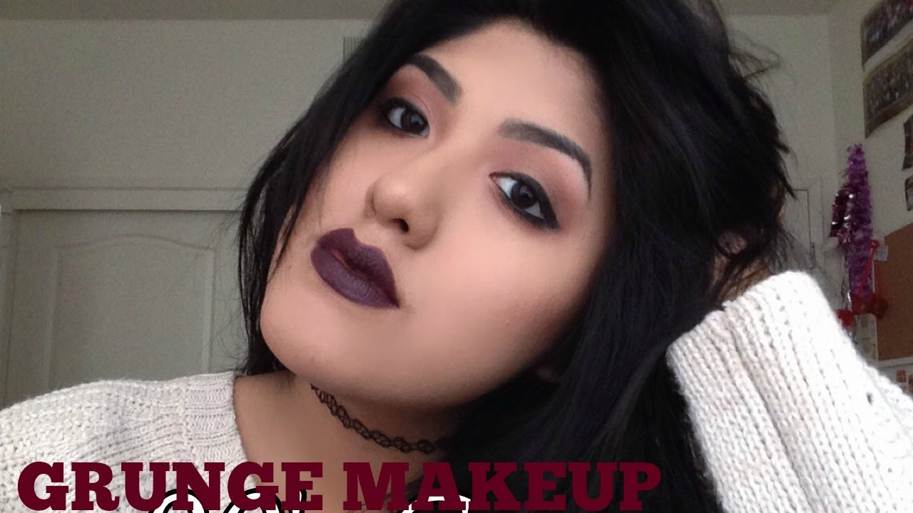 90's Grunge | Hair, Makeup & Outfit - YouTube