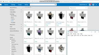 All Free Pants And Shirts On Roblox