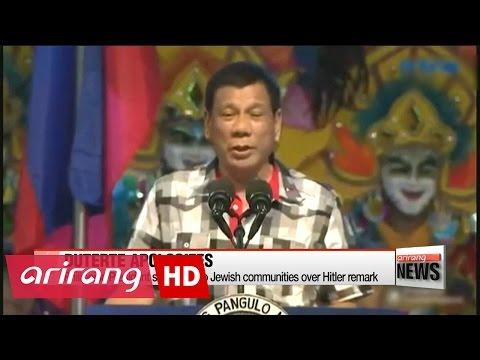 Philippine President says sorry to Jewish community