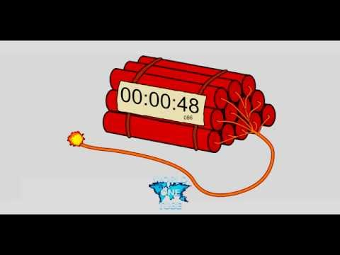 Countdown Dynamite Timer 1 MINUTE