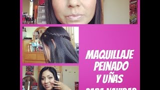 Maquillaje + Peinado + Uñas para Navidad | malir15 Thumbnail