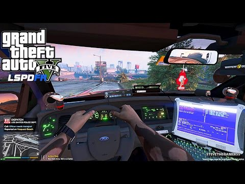 GTA 5 LSPDFR 0.3 - EPiSODE 13 - LET'S BE COPS - CITY PATROL (GTA 5 PC POLICE) FIRST PERSON