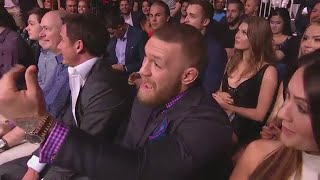 UFC 200 Conor McGregor Reaction After Jose Aldo Defeated Frankie Edgar