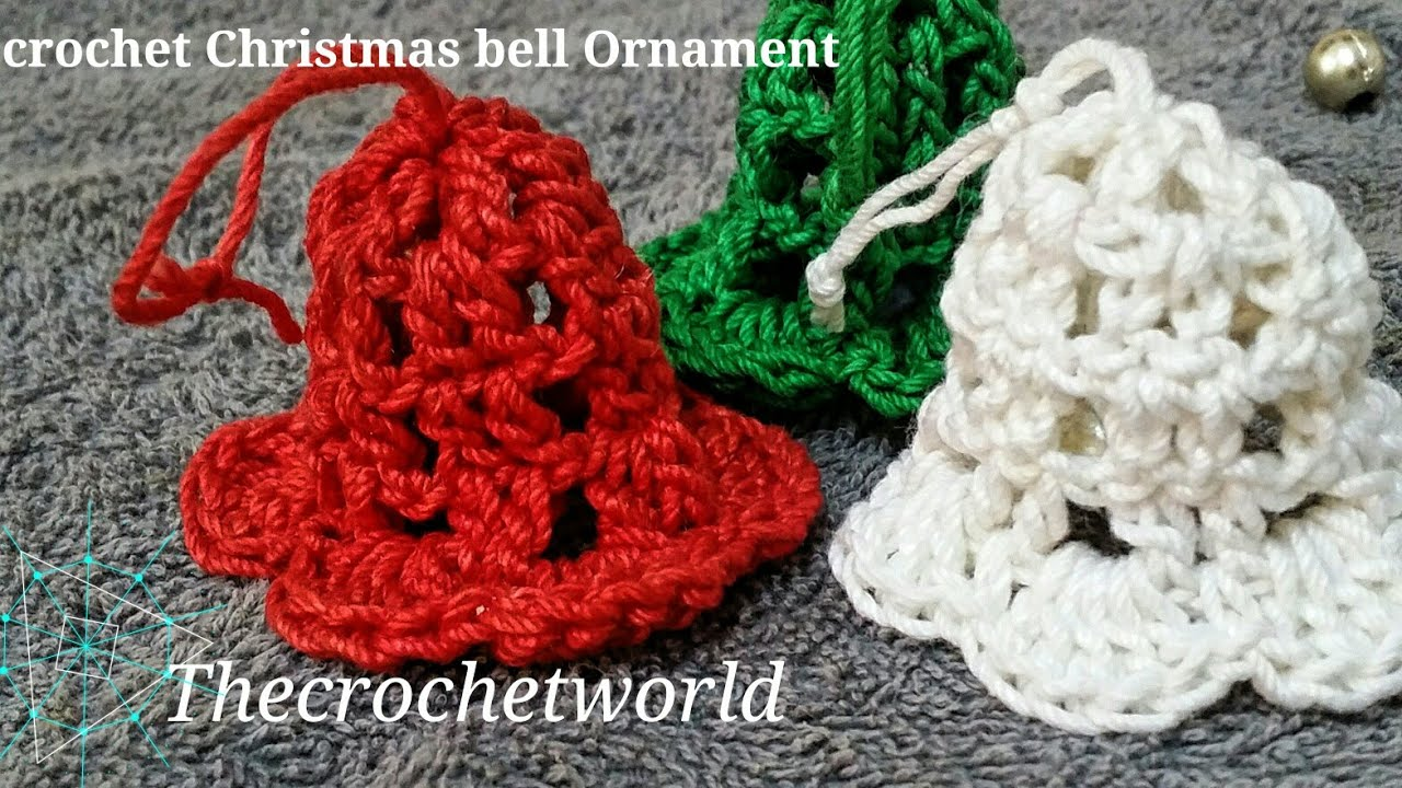Enchanting Crochet Christmas Bell Pattern Ornament - Sewing Pattern ...