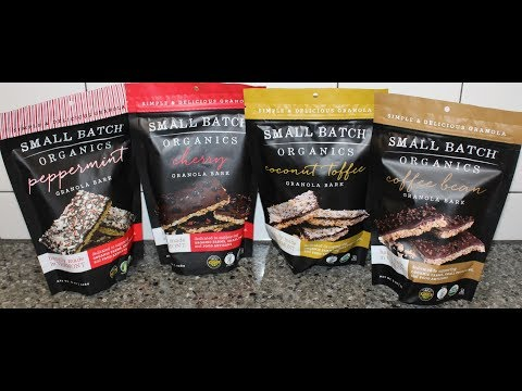 Small Batch Organics Granola Bark: Peppermint, Cherry, Coconut Toffee & Coffee Bean Review