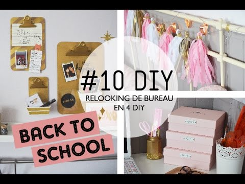 10 diy relooker son bureau en 4 diy i back to school youtube. Black Bedroom Furniture Sets. Home Design Ideas