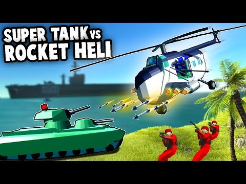 SUPER TANK vs NEW Rocket Helicopter!  (Ravenfield Modded Gameplay)