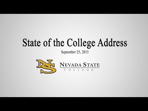 Nevada State College - State of the College Address, 2015