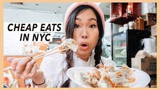 NYC Cheap Eats: Dumplings in Chinatown   Food Travel Vlog