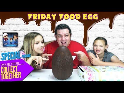 Giant Food Surprise Egg - Friday Food Egg Surprise from Australia