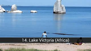 The largest lakes in the world
