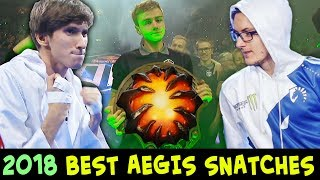 2018 BEST Aegis Snatches and Rosh Fights — Dota 2
