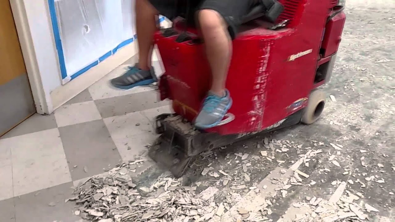Bronco Floor Scraper Removing Engineered Hardwood And VCT YouTube - Bronco floor scraper rental