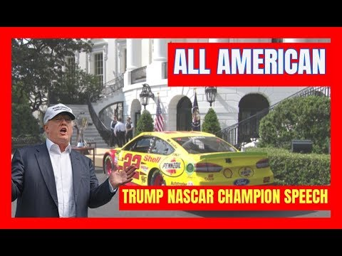 ALL AMERICAN 🔴 President Trump AMAZING Speech with NASCAR Champion Joey Logano at the White House