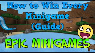 Roblox - Epic Minigames | How to win each Minigame (Guide) - Part 1