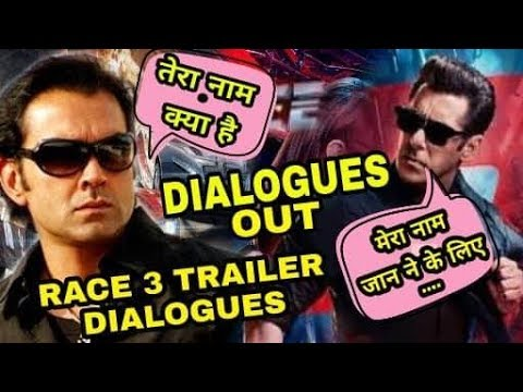 Race 3 Dialogues out | Salman khan '...