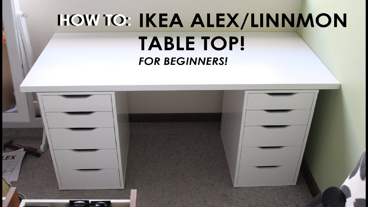 Alex Drawers Vanity How To Set Up Ikea Alex/linnmon Drawers - For Beginners