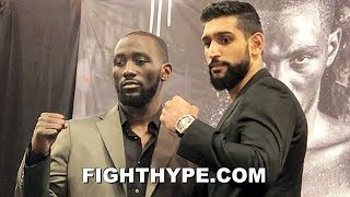 TERENCE CRAWFORD VS. AMIR KHAN FULL FINAL PRESS CONFERENCE AND FACE OFF