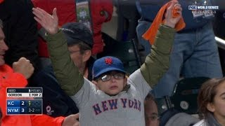 WS2015 Gm4: Young Mets fan demands a strikeout
