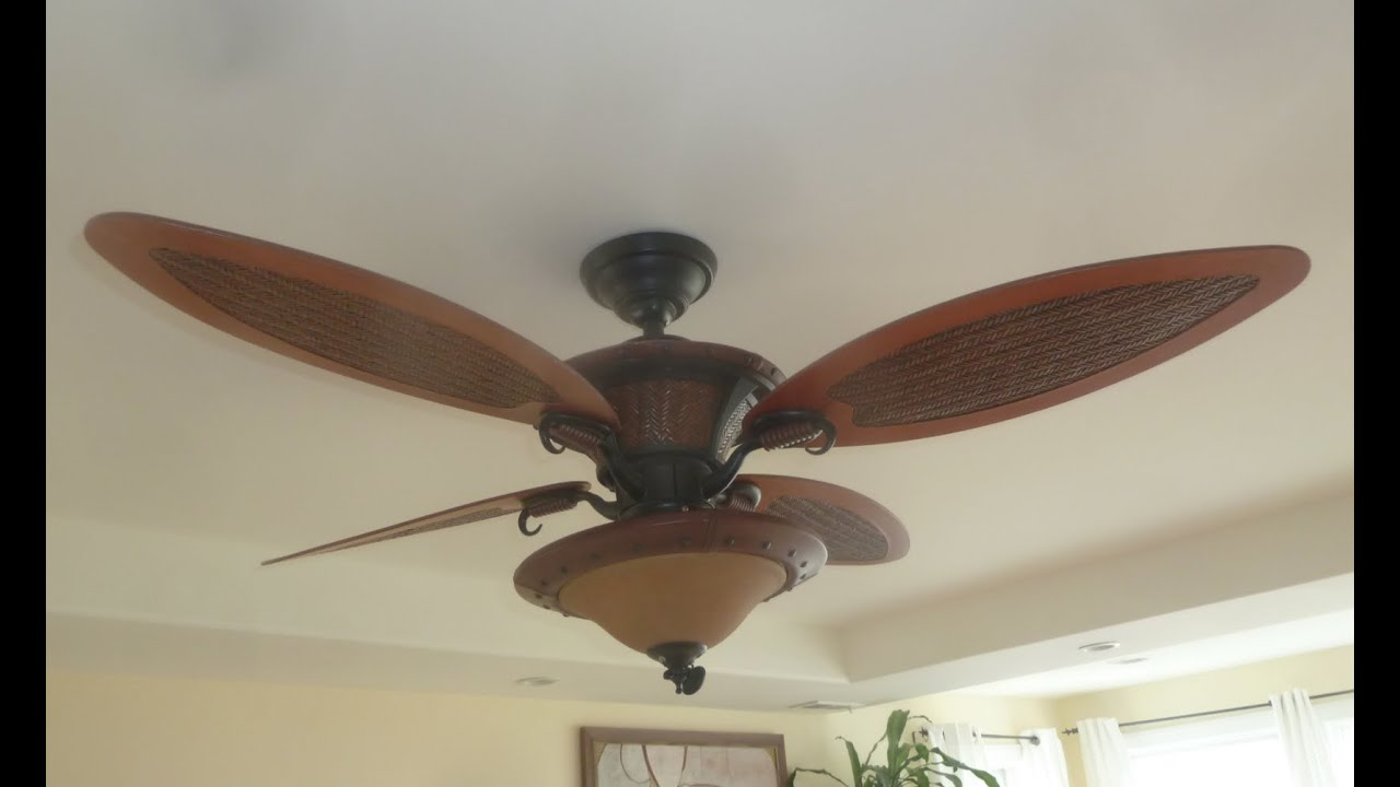 "56"" Hunter Seville ceiling fan - YouTube"