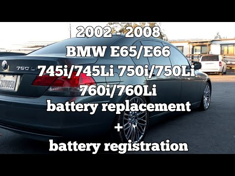 2002 2008 Bmw E65e66 Battery Replacement Battery Registration