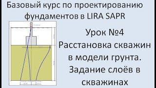Базовый курс по проектированию фундаментов в Lira Sapr Урок 4