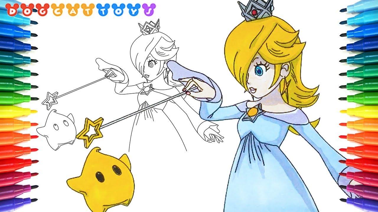 How to Draw Super Mario, Rosalina Luma #183 | Drawing Coloring Pages ...