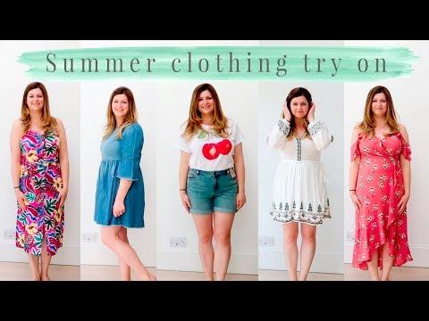 SUMMER CLOTHING TRY ON  UK SIZE 14  NEW LOOK, H&M, TU CLOTHING