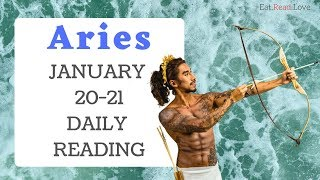 "ARIES DAILY ""BE CAREFUL OF THE FIGHT"" JAN 20-21 TAROT READING"