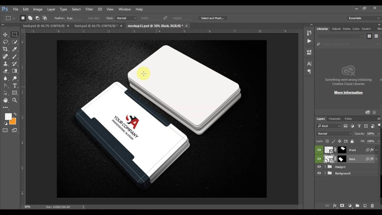 how to mock up business card or visiting card - YouTube