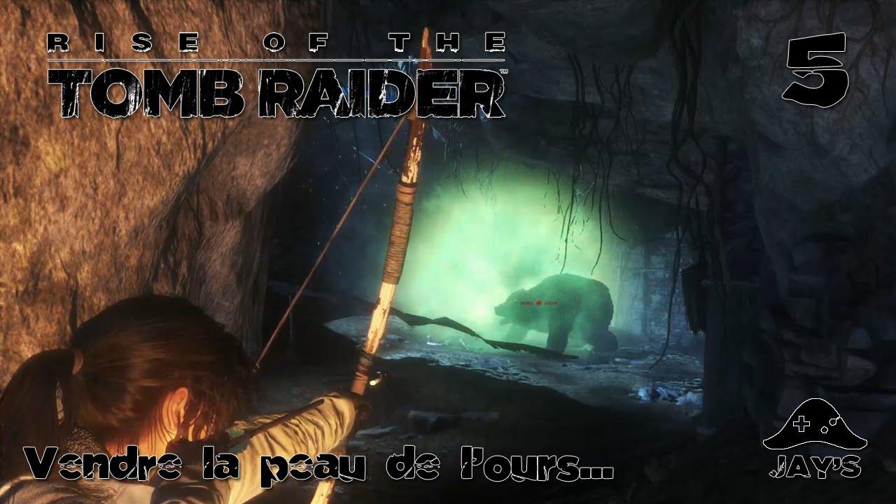 fr rise of the tomb raider vendre la peau de l 39 ours episode 5 youtube. Black Bedroom Furniture Sets. Home Design Ideas