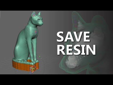My process for hollowing models for Resin 3D Printing with Meshmixer