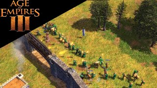 Age of Empires 3 - Walled Strategies with Aztecs - Multiplayer Gameplay