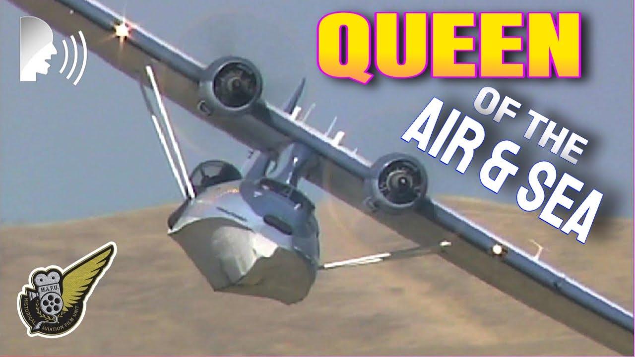 WW2-Era Catalina Flying Boat Low & Loud - YouTube