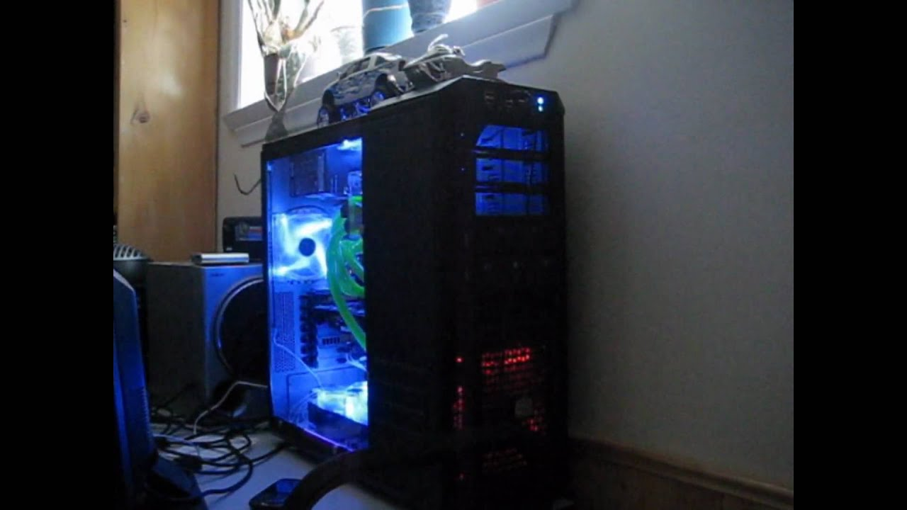 Custom Haf 932 Liquid Cooled Blue Sound Activated Cathodes Youtube