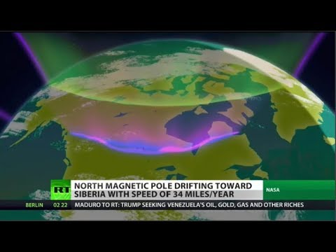 Magnetic North drifting toward Russia