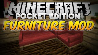 Minecraft PE 0.13.1 FURNITURE MOD V3 (Pocket Edition)