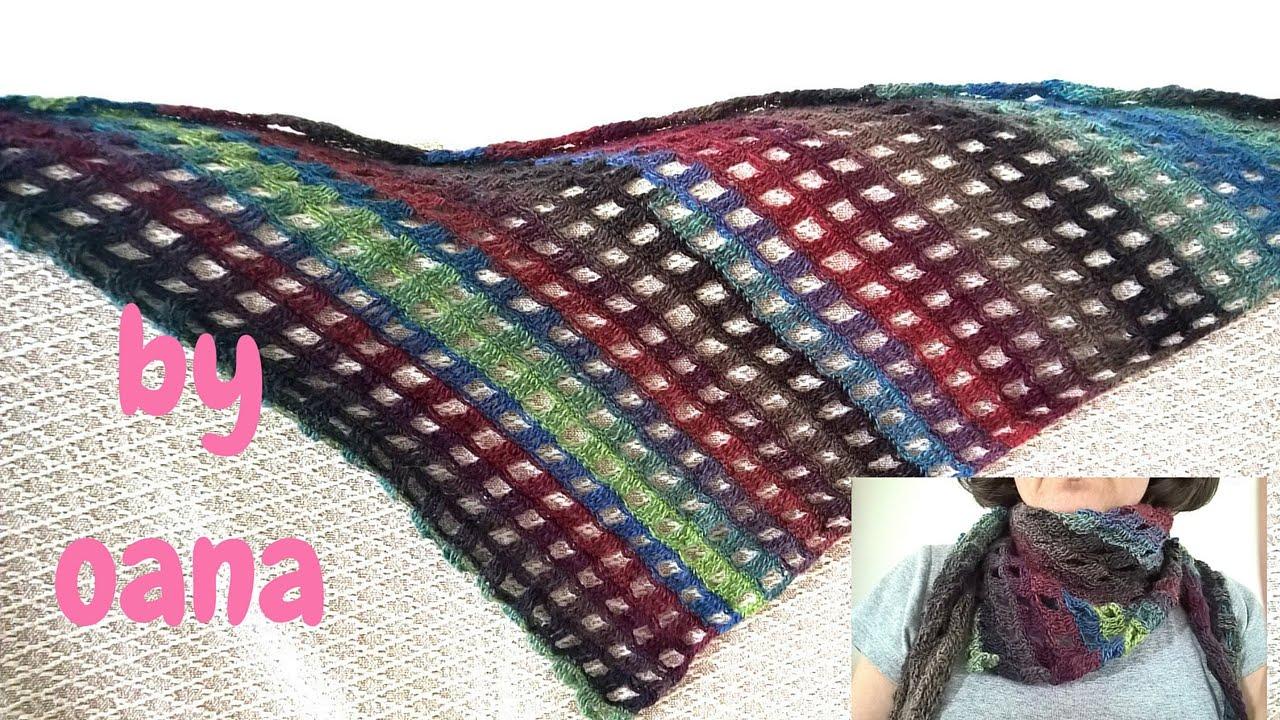 Crochet Asymmetric Scarf Youtube
