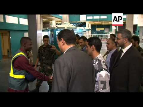 Ceremony to hand over Tripoli airport to civilian authorities