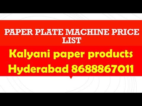 pH.8688867011 Paper plate making machine with warranty guarantee in khammam