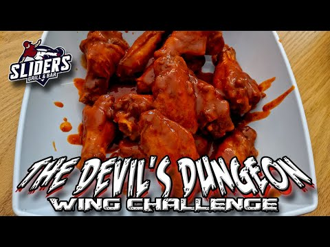 THE DEVIL'S DUNGEON WING CHALLENGE w/ Willy Pete's Chocolate Co. │Sliders Grill & Bar