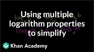 Using multiple logarithm properties to simplify | Logarithms | Algebra II | Khan Academy thumbnail